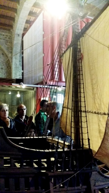 "crowds admiring one of the most beautiful models presented at the ""7 ships, 7 stories"" exhibition"