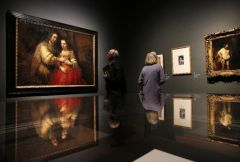 Rembrandt: The Late Works, 15/10/2014 - 18/01/2015, National Gallery in London; photo via http://news.yahoo.com