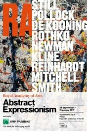 poster of the exhibition of Abstract Expressionism at the Royal Academy of Arts | photo via royalacademy.org.uk
